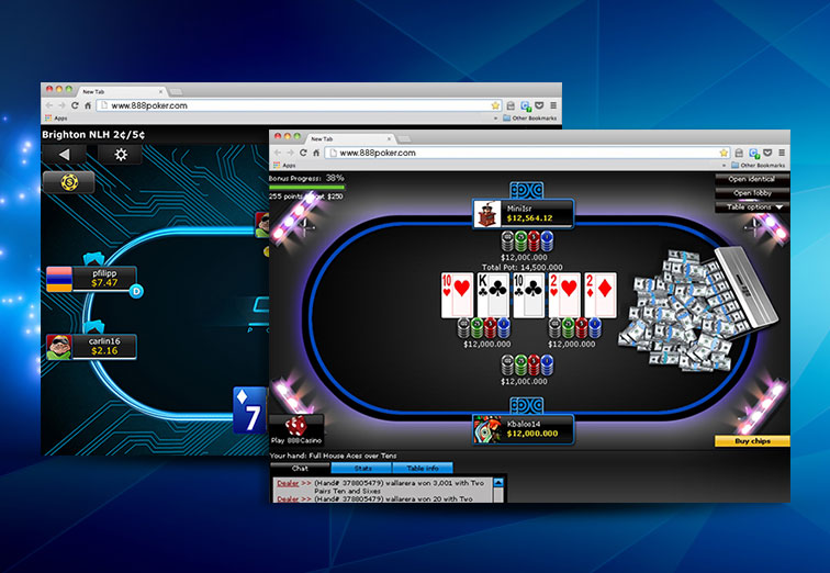 888poker tables